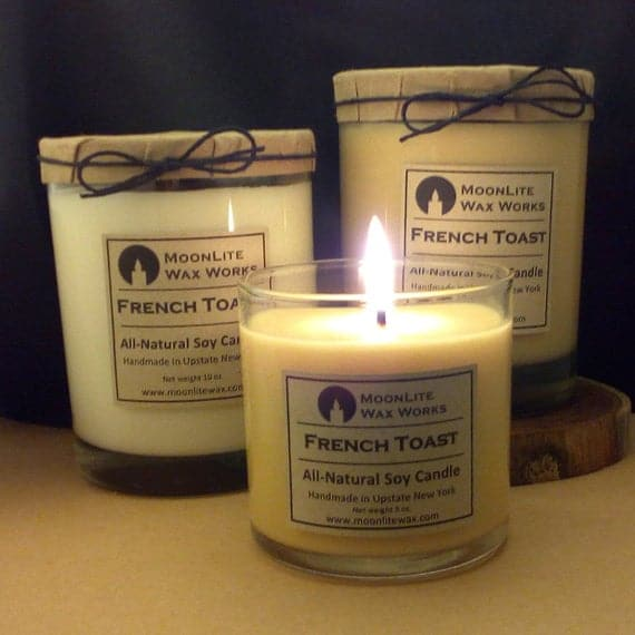 French Toast Hand Poured Scented Soy Candle, 5 oz. | Warm Vanilla and Cinnamon Scent