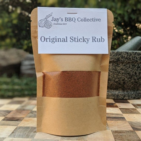 Small Original Sticky Rub Eco Pouch BBQ Spice Rub Carolina Style Mild 114g
