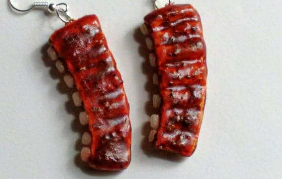 Grilled BBQ Ribs Earrings