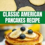 American pancakes collage