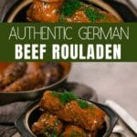 Beef rouladen collage