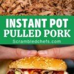 Instant Pot Pulled Pork Collage
