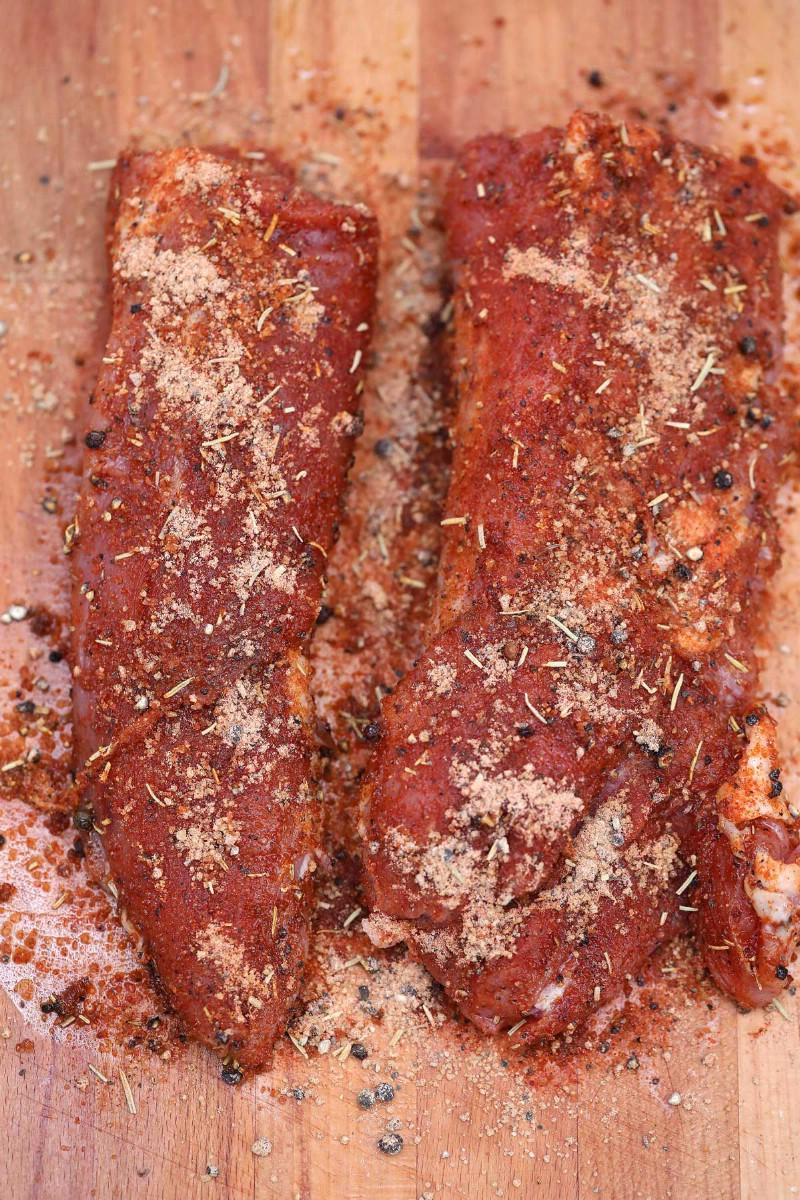 Pork tenderloin with spice rub