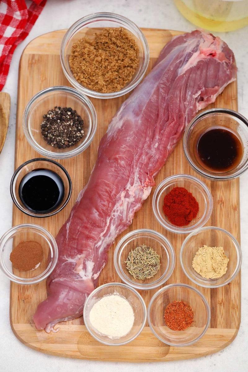 Ingredients for pork tenderloin in Instant Pot