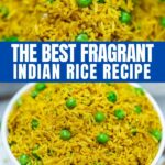 Indian style rice recipe collage