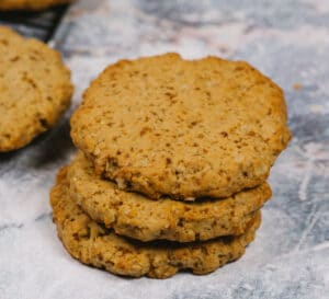 Oatmeal cookies on marble counter