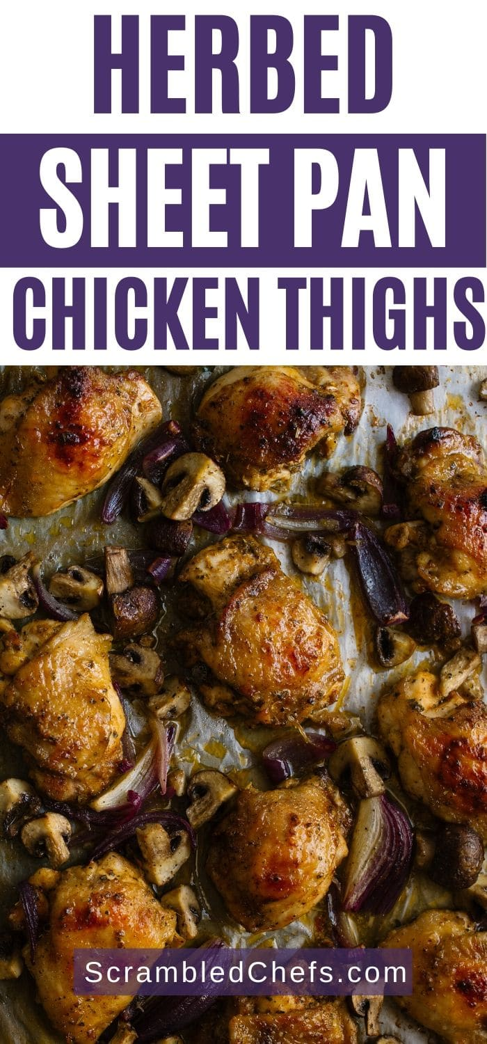 Baked chicken thighs on sheet pan