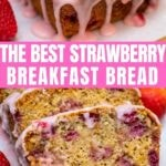 Strawberry bread collage
