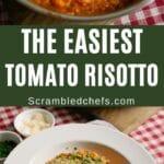 Tomato risotto collage