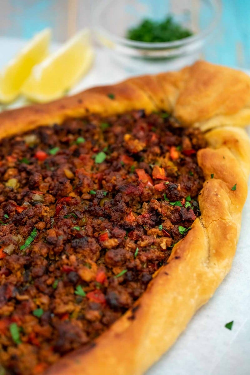 Cooked whole turkish pide