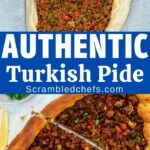 Turkish pide collage