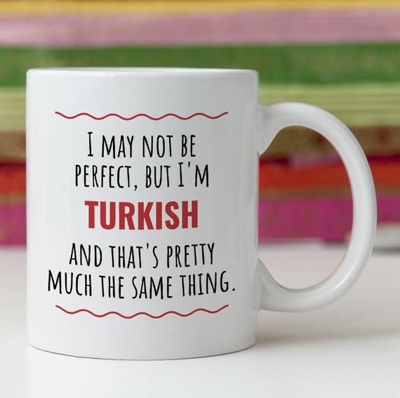 Funny Turkish Turkey Gift Idea Mug Perfect