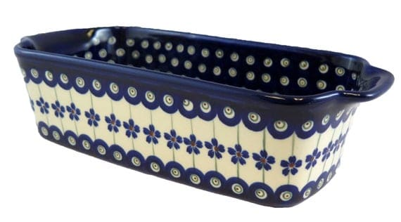"Loaf Pan; 9"" x 5"" x 2.5"" Polish Pottery Baking Dish"