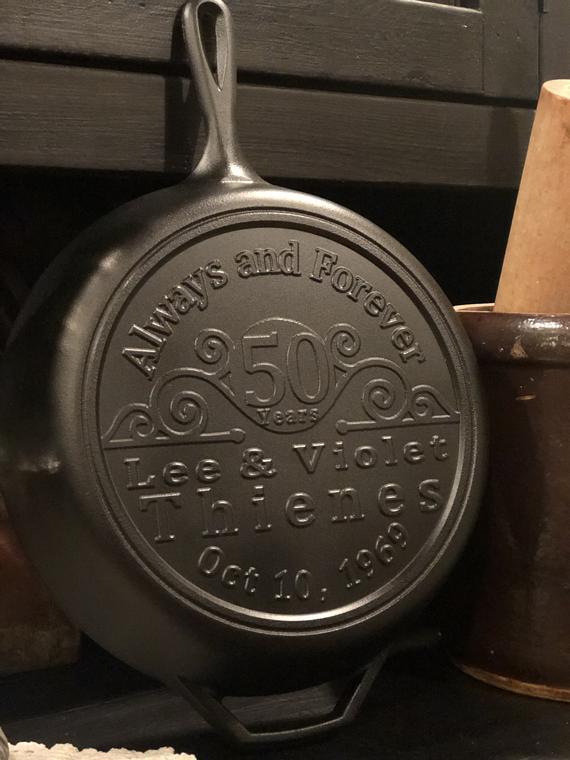 Custom/ personalized Cast Iron skillet