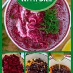 Beetroot soup collage