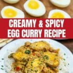 Egg Curry Recipe Collage