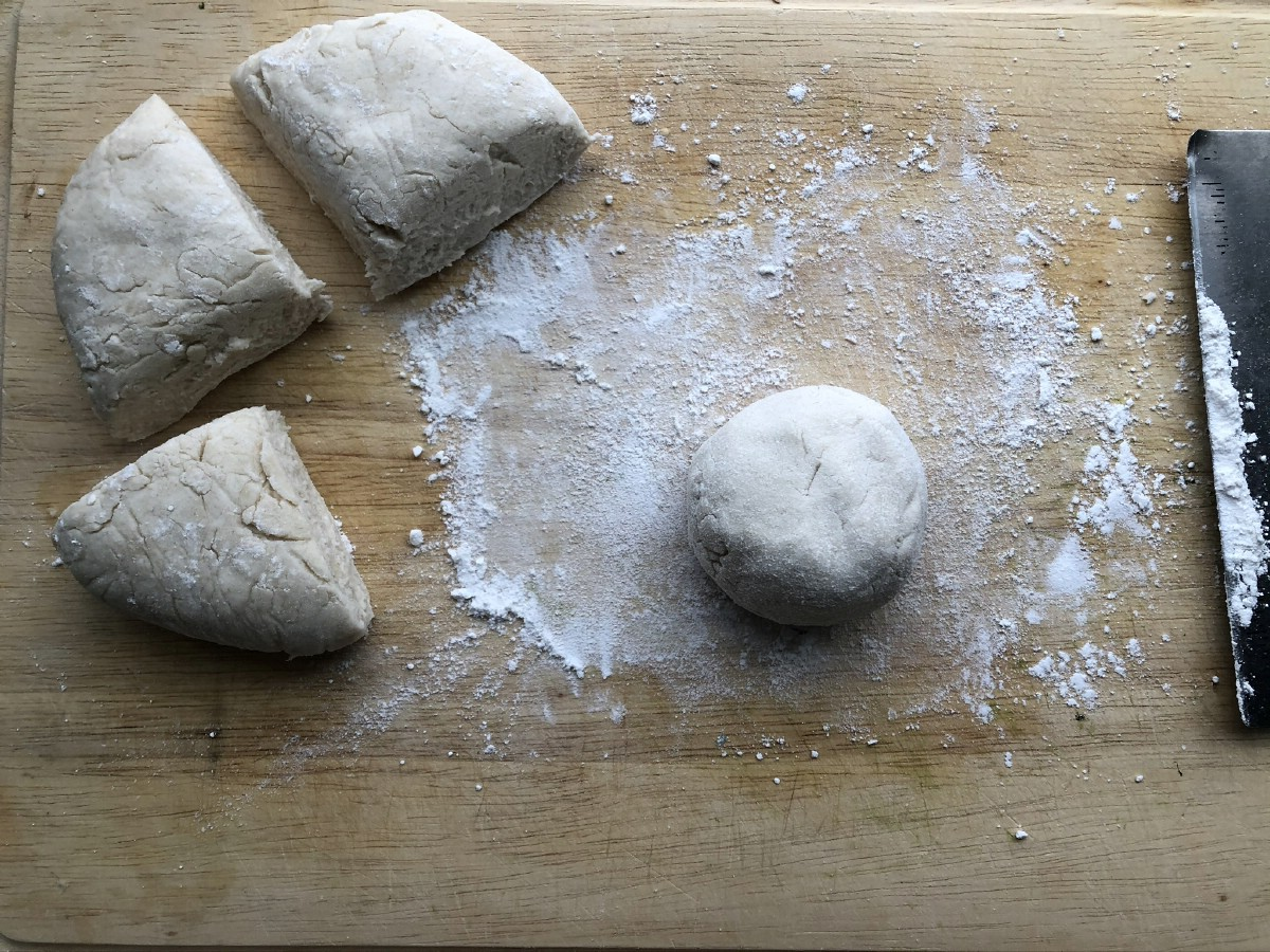 Small roll of dough