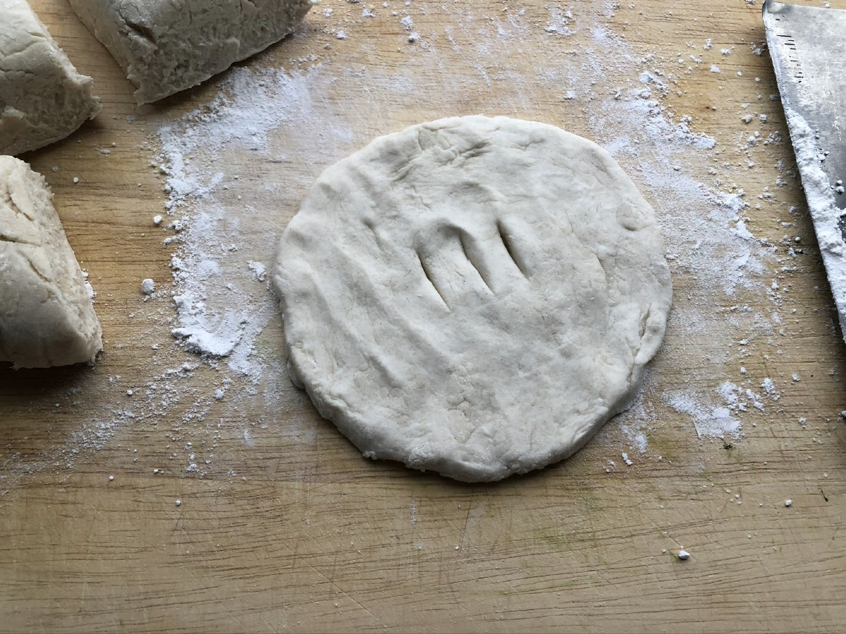 Fry bread dough before cooking