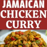 Jamaican curry collage