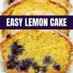 Lemon cake recipe collage