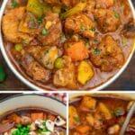 Pork stew collage
