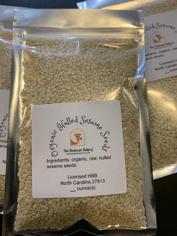 Raw organic hulled sesame seeds | Etsy