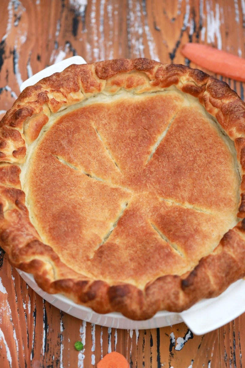 Whole chicken pot pie