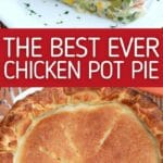 Chicken pot pie collage