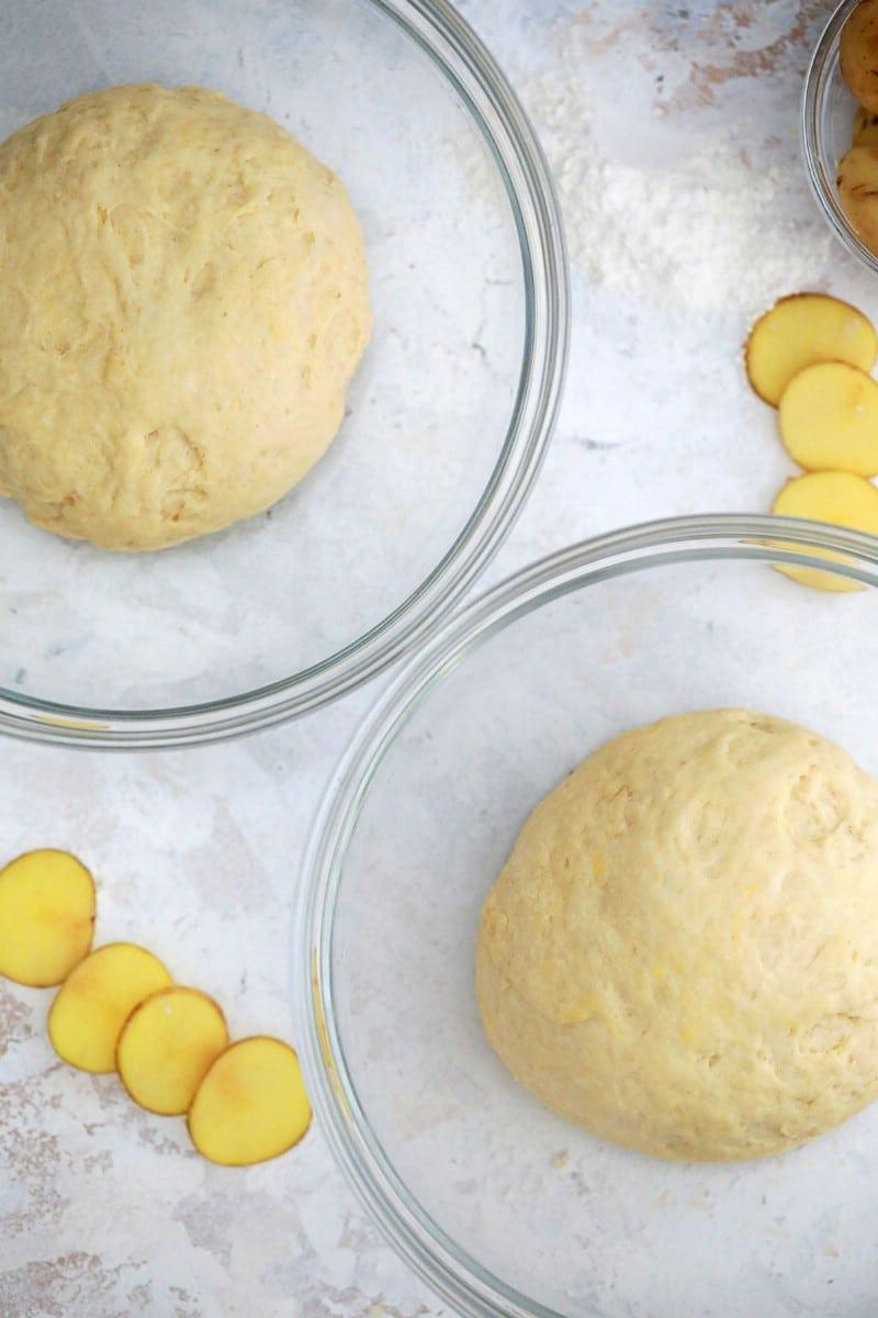 Bread dough rising