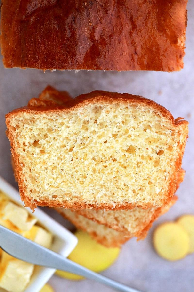 Stack of potato bread