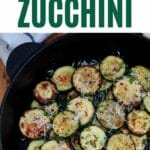 Cooked zucchini with parmesan