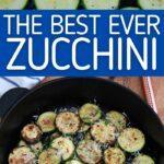 Sauteed zucchini collage