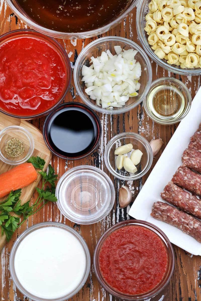 Tortellini soup ingredients