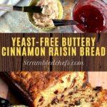 Cinnamon raisin bread collage