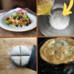 Fry bread taco collage