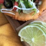 Fry bread taco with lime