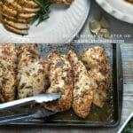 Garlic chicken breast collage