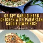 Garlic herb chicken collage