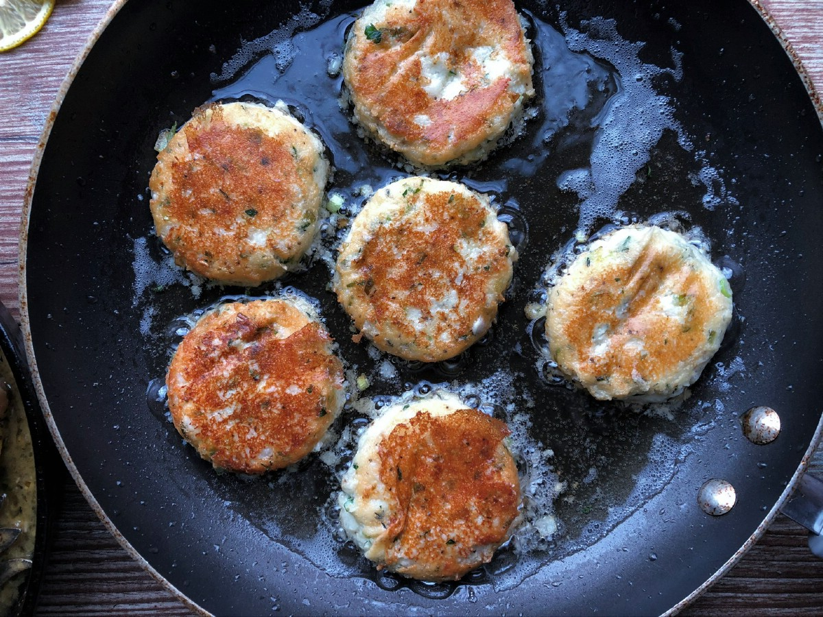 Potato cakes in oil