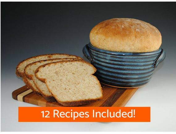 Bread Baker Bread Baking Pot in Blue 12 Recipes Included   Etsy