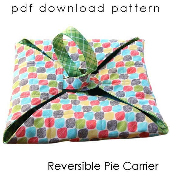 Reversible Pie Carrier Sewing Pattern PDF download | Etsy