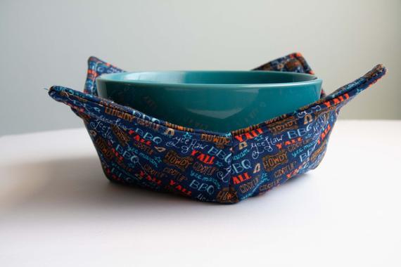 Bowl Cozy Microwave Heat Resistant Fabric Patriotic Reversible | Etsy