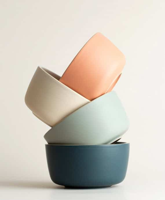 Ceramic Matte Bowl Collection Dinnerware Modern Bowl | Etsy