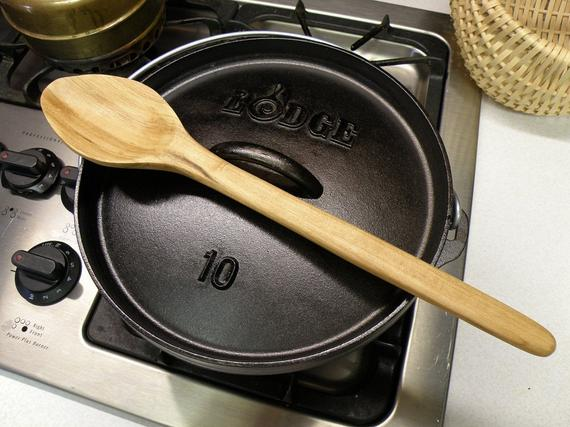 Dutch Oven Spoon Cherry Wood | Etsy