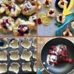 Raspberry tart collage