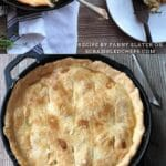 Skillet pot pie collage