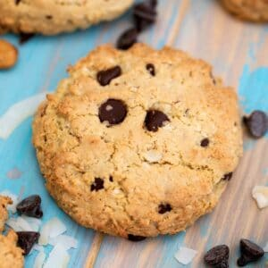 Almond Joy cookie on table