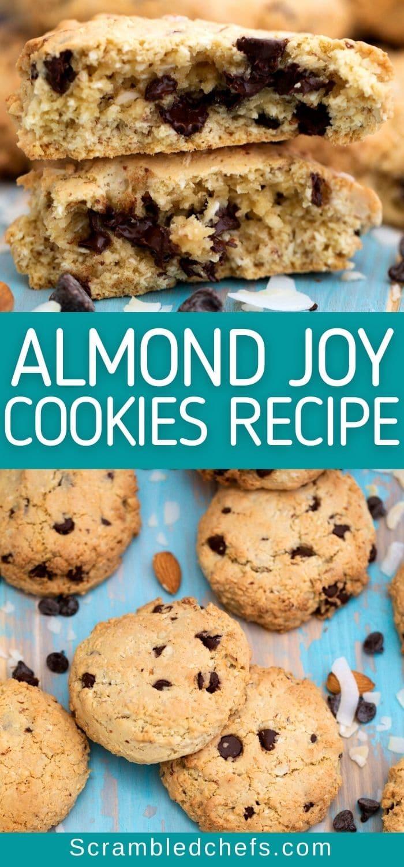 Almond Joy cookies collage