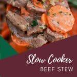 Wooden spoon of beef stew