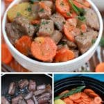 Slow cooker beef stew collage